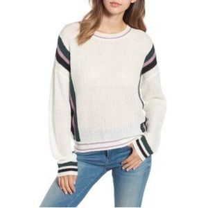 BP. Nordstrom white oversized striped sweater